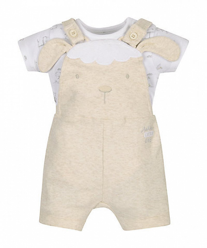 SALE, Save on gorgeous baby clothes - Little Lamb Bodysuit and Bibshorts Set!