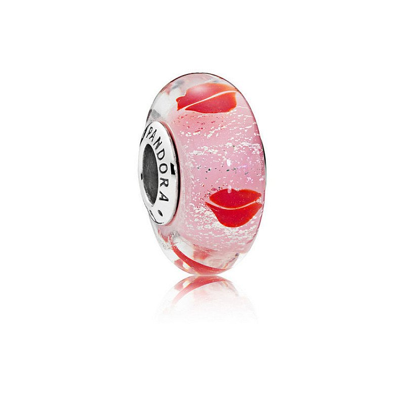 GET 50% OFF CHARMS - KISSES ALL AROUND GLASS MURANO CHARM!