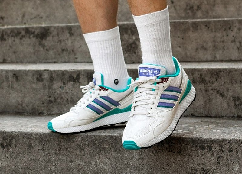 SAVE ON SHOES - ADIDAS ULTRA TECH OG WHITE, REAL LILAC & CORE BLACK!