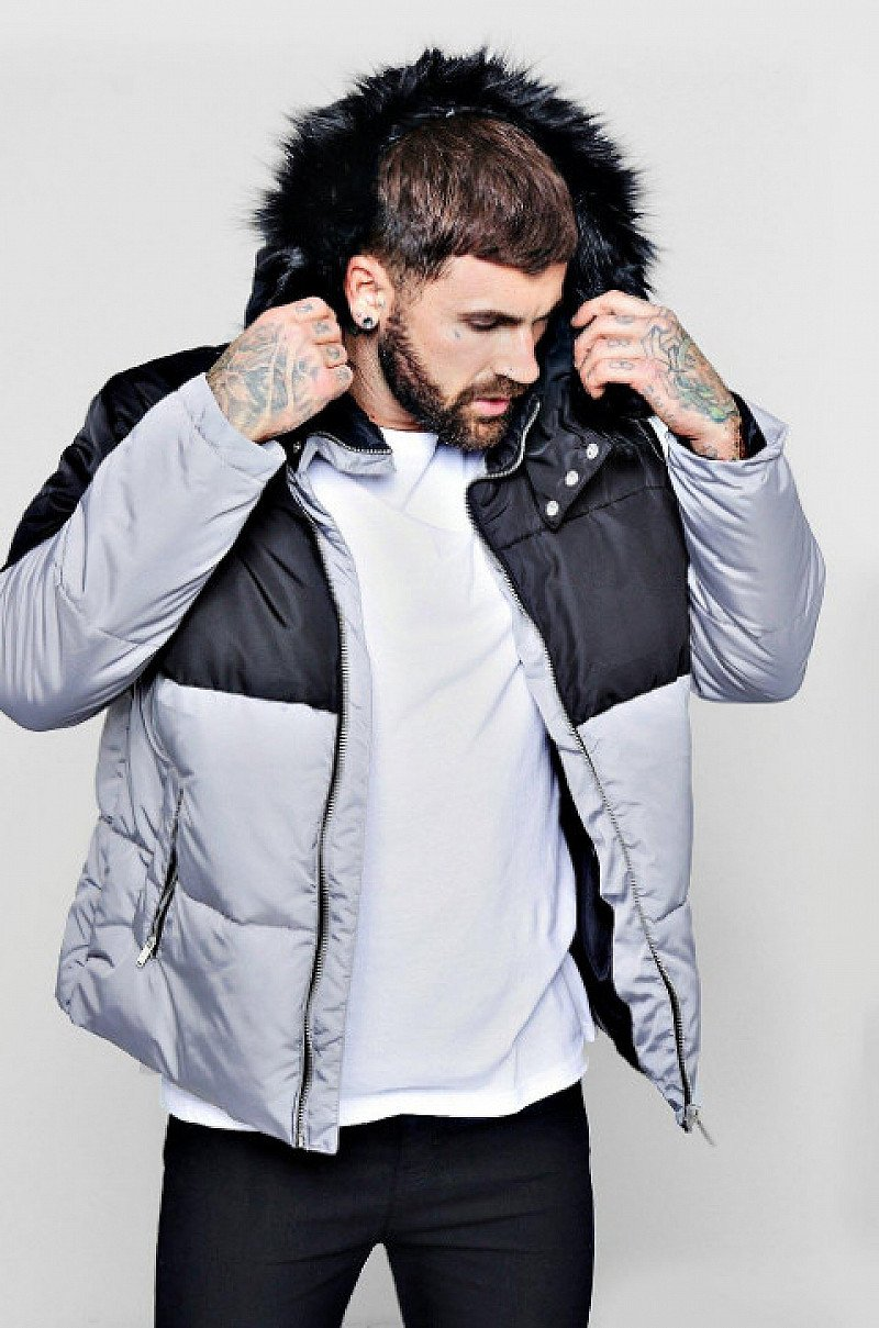 UP TO 60% OFF SALE - Inc. COLOUR BLOCK PUFFER WITH FAUX FUR TRIM HOOD, GET 56% OFF!