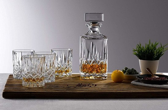 SALE, UP TO 50% OFF GLASS WEAR - Seasons Decanter Set: Decanter and 6 Tumbler Glasses!