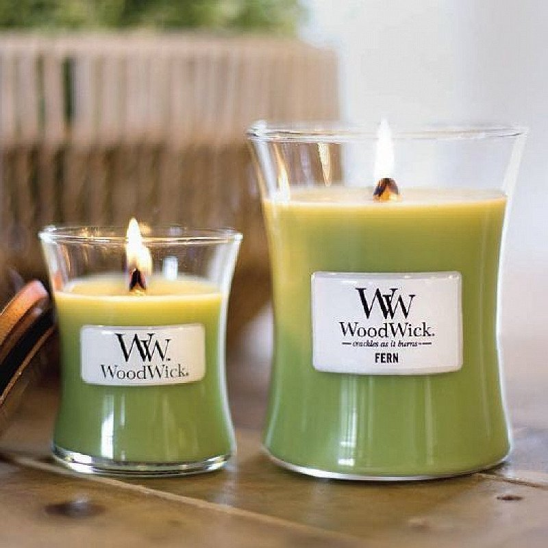 SAVE UP TO 30% ON CANDLES & HOME - WoodWick Ellipse Candle Fern!