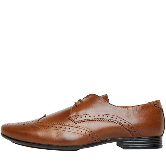 SALE, SAVE ON SMART SHOES - Onfire Mens Leather Wing Tipped Brogue Shoes Brown!
