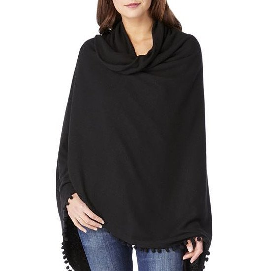 Michael Stars Wrap With Pom Poms - Charcoal: £95.00!