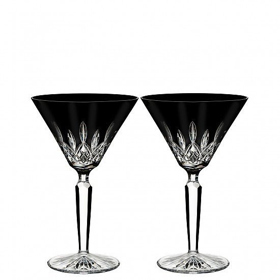 SALE, SAVE ON GLASSWARE - Lismore Black Martini (Set of 2)!