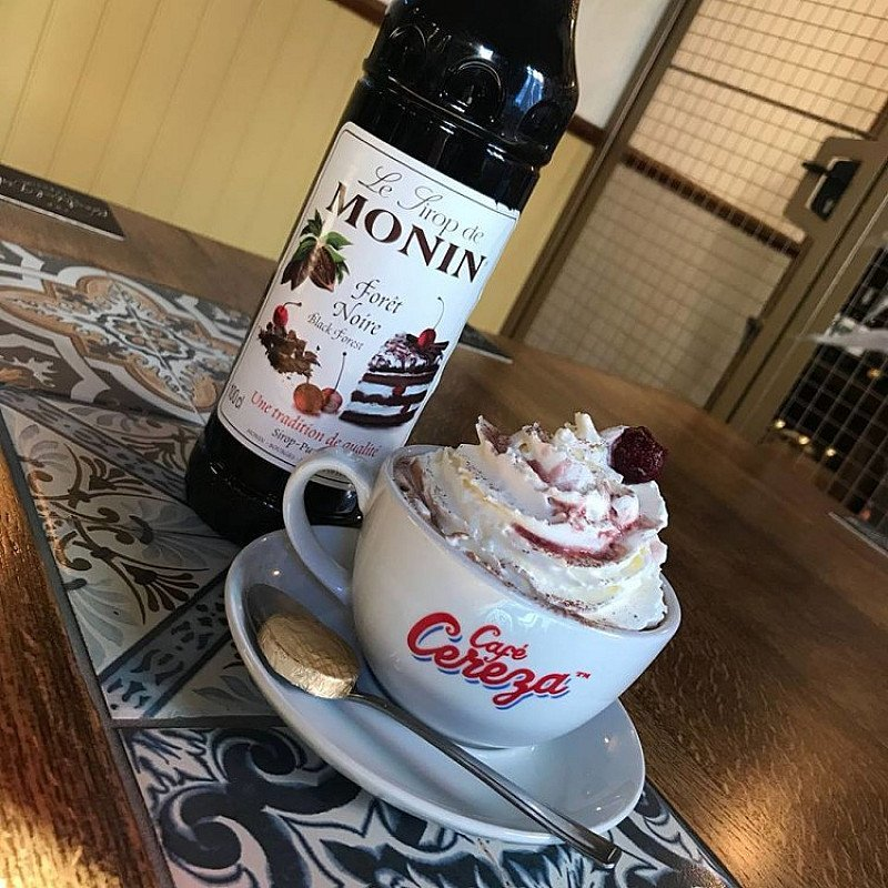 Warm yourself through the January blues with our Black Forest Hot Chocolate!