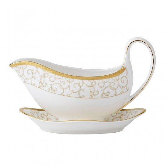 SHOP GORGEOUS KITCHEN WEAR - Celestial Gold Sauce Boat Stand!