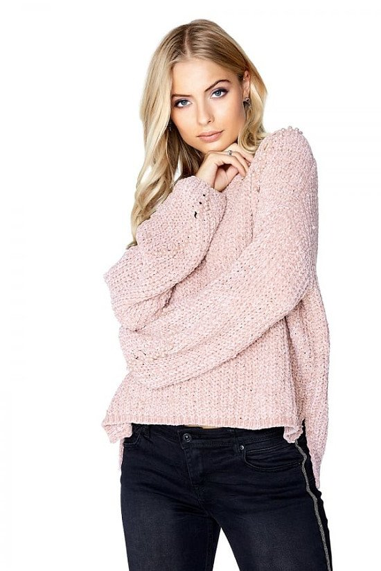 SALE, UP TO 50% OFF ON CLOTHING - OUTLET GIRLS ON FILM PINK PEARL JUMPER!