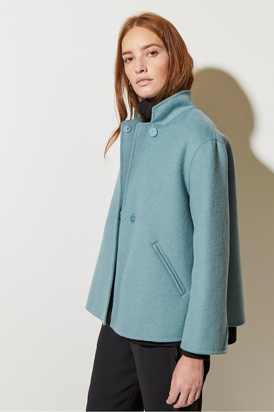 SALE, SAVE ON WOMEN'S OUTDOOR WEAR - Double Face Collared Jacket!