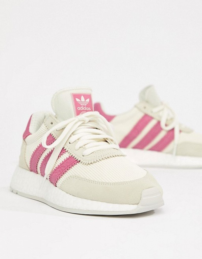 SALE, GET 50% OFF - adidas Originals I-5923 Trainers In White And Pink!
