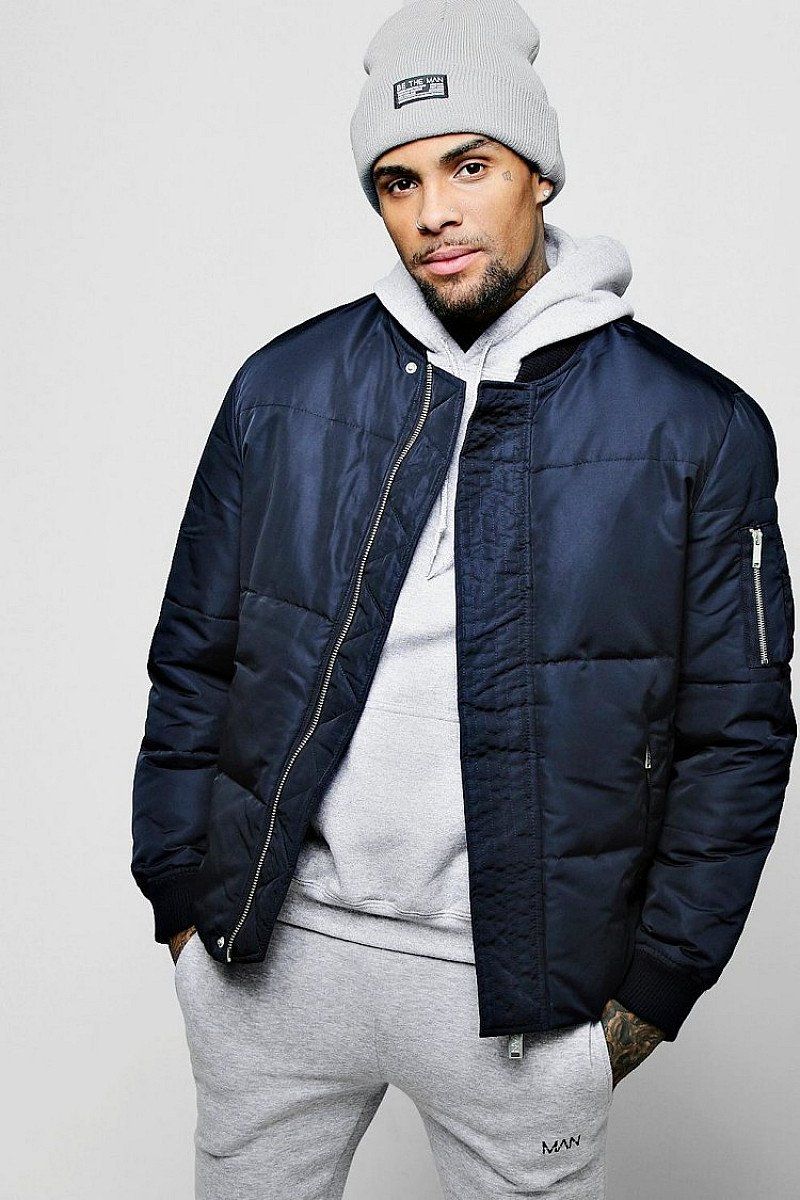 SALE, GET 63% OFF - PUFFER JACKET WITH BOMBER NECK!