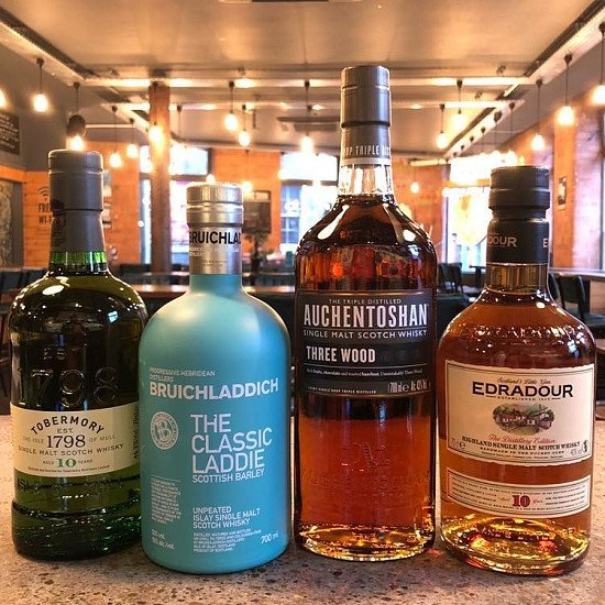 We have a great selection of whisky on offer.