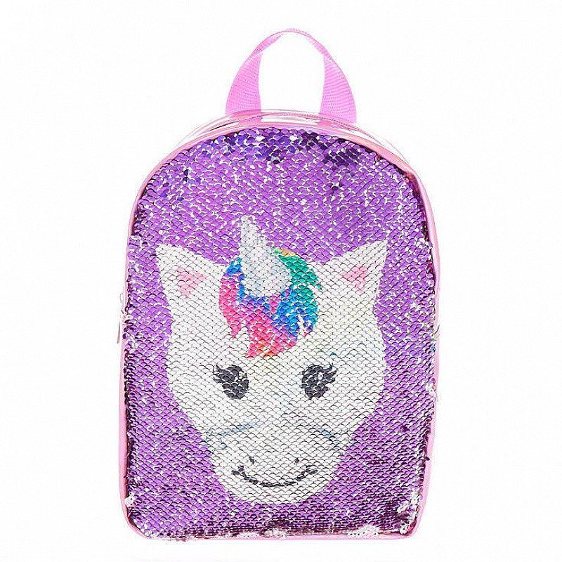 SALE - Claire's Club Reversible Sequins Unicorn Backpack - Pink!