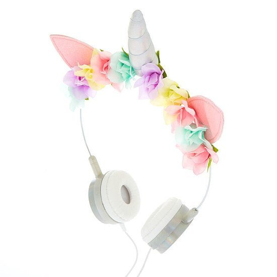 SALE - Unicorn Floral Headphones - Silver!