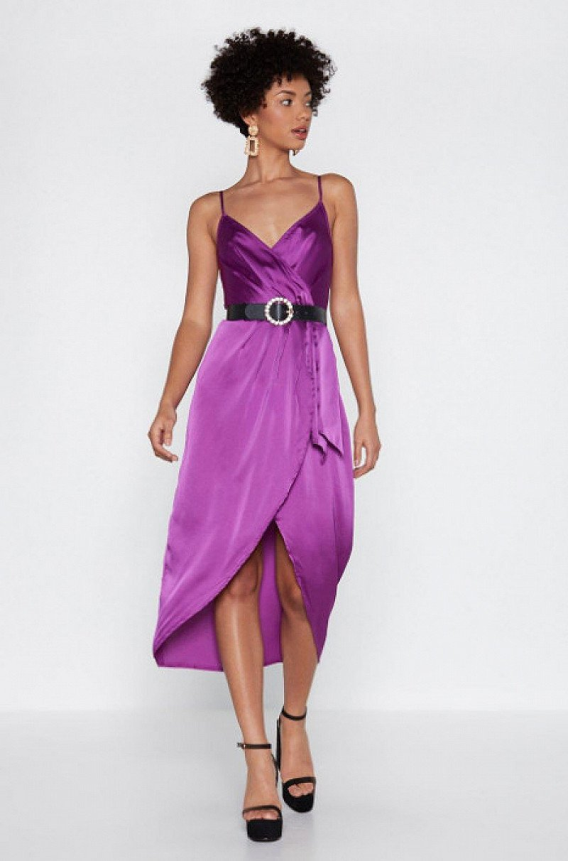 SALE, SAVE £25.00 - From Ruche With Love Satin Dress!