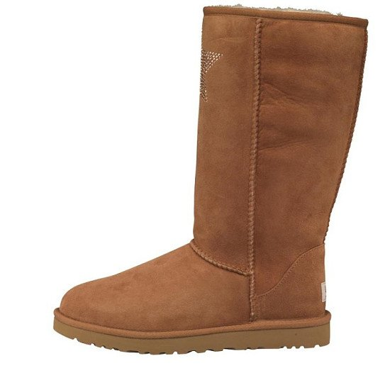 SALE, SAVE £105.00 - UGG Womens Classic Tall Crystal Star Boots Chestnut!