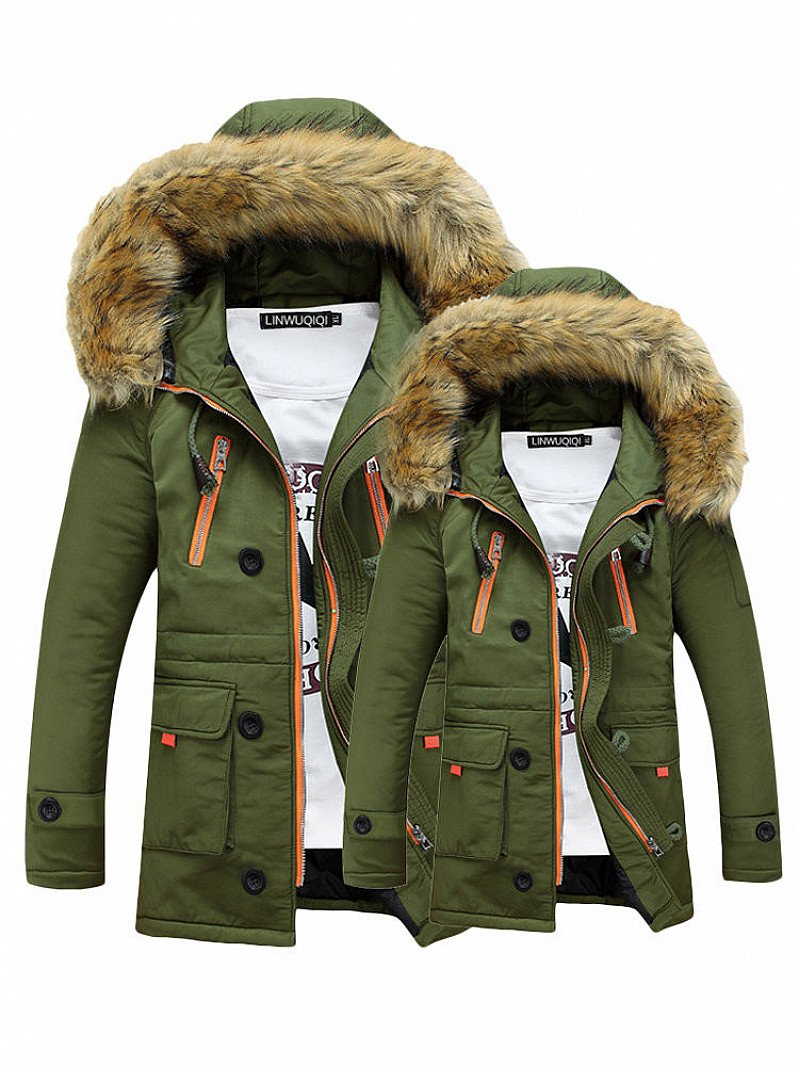 SALE, 60% OFF - Long Sleeve Thicken Hooded Pockets Winter Cotton Warm Coats!