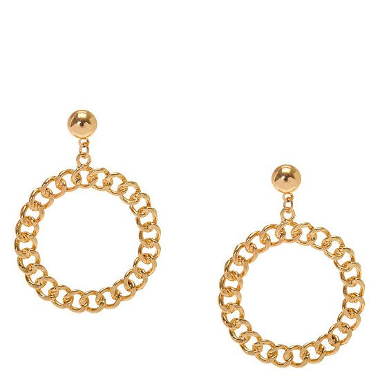 SALE - Gold Circle Drop Earrings!