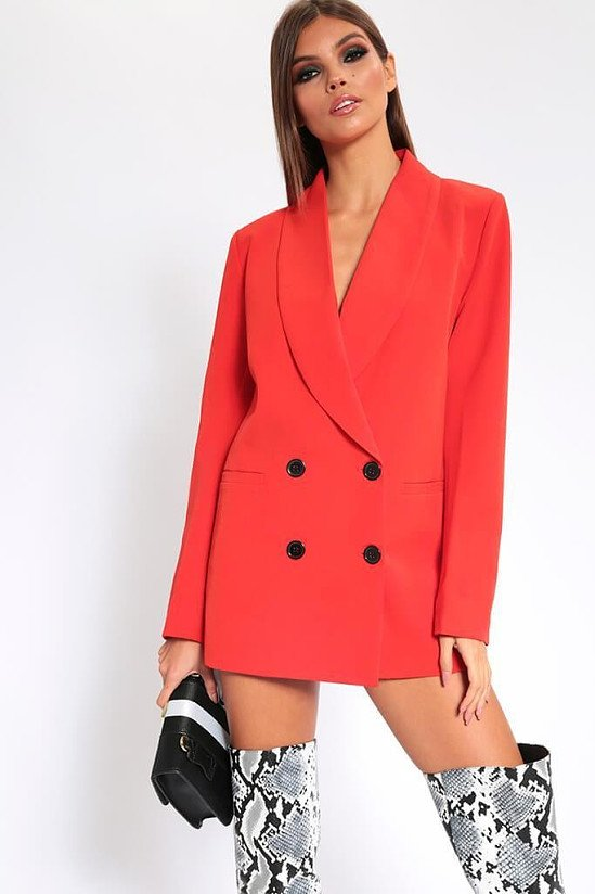 SALE, 50% OFF - Red Oversized Fitted Blazer!