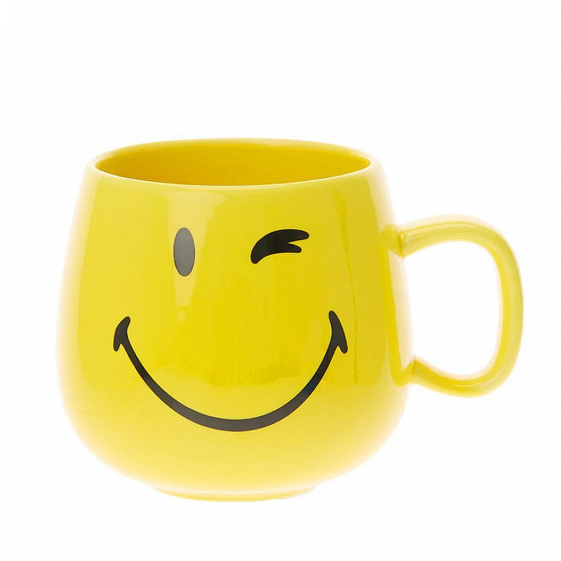 SALE - Yellow Smiley World Face Mug!