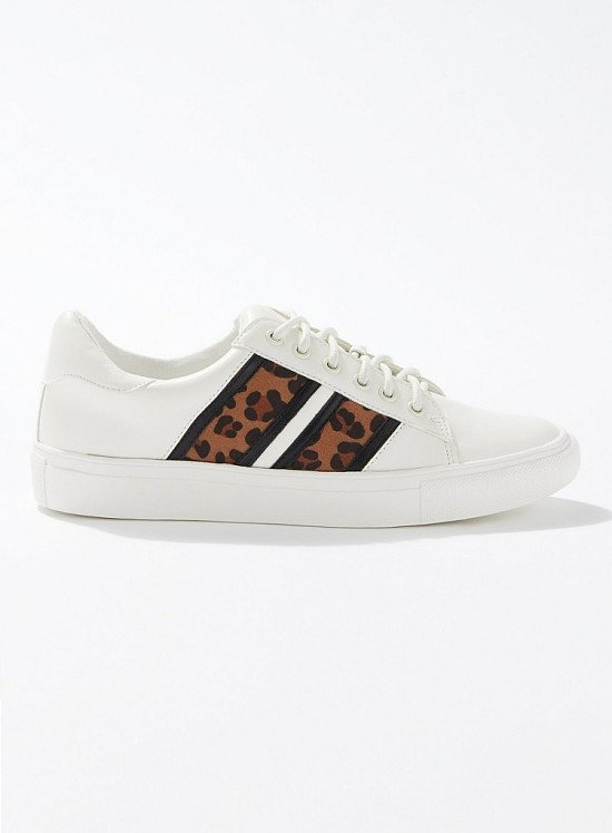 SALE - TARA White Double Striped Trainers!