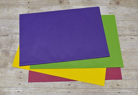 George Home Yellow, Red, Pink, Purple & Blue Tissue Paper - £1.25!