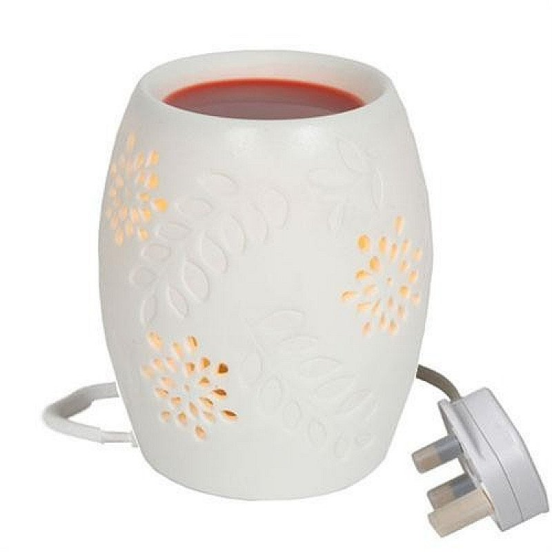 SALE - White Floral Electric Wax Burner!