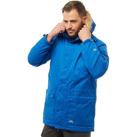 SALE - Trespass Mens Jaydin Insulated Waterproof Parka Jacket Blue!