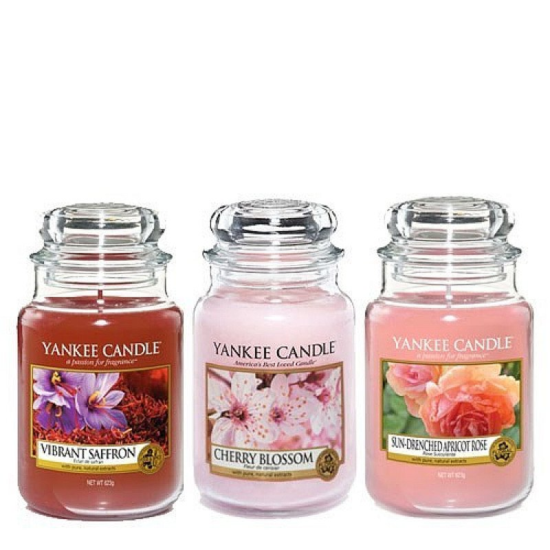 SALE - Yankee Candle 3 Large Jar Floral Collection!