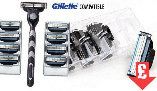 SALE - Eight Razor Blades Compatible with Gillette Mach3!