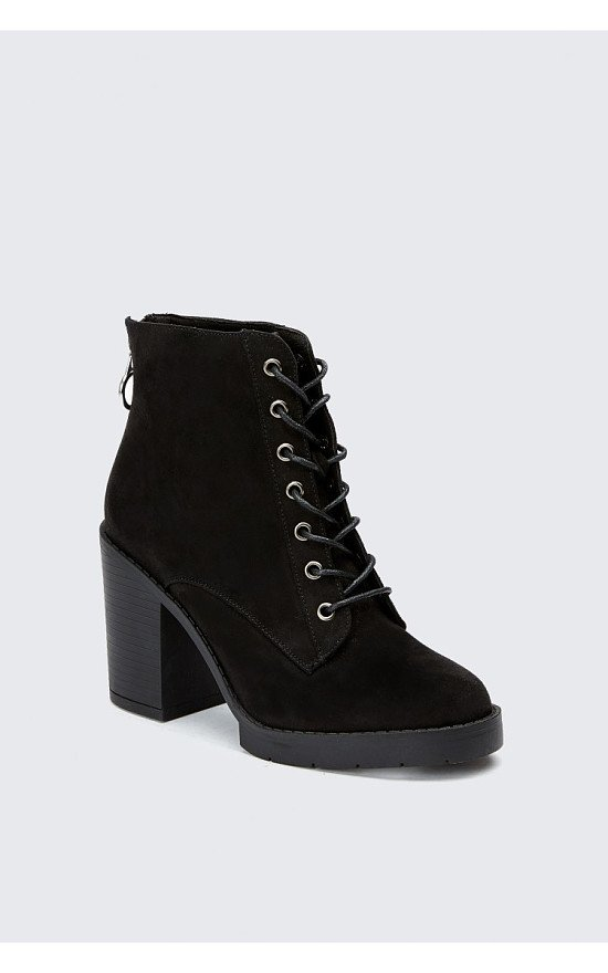 SALE, 20% OFF - BLACK ZIP BACK AND EYELET ANKLE BOOTS!