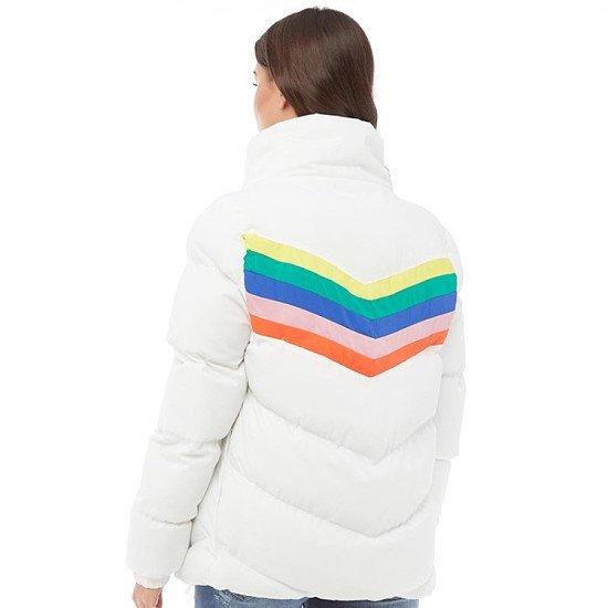 SALE - Brave Soul Womens Antonia Rainbow Padded Jacket!