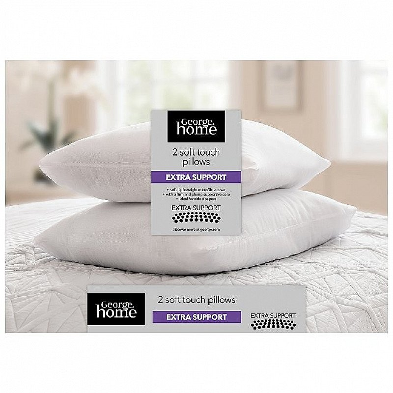 SALE - Soft Touch Extra Support Pillow Pair!