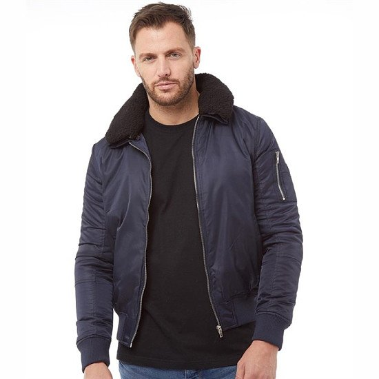 SALE - French Connection Mens MA Sherpa Jacket Marine!