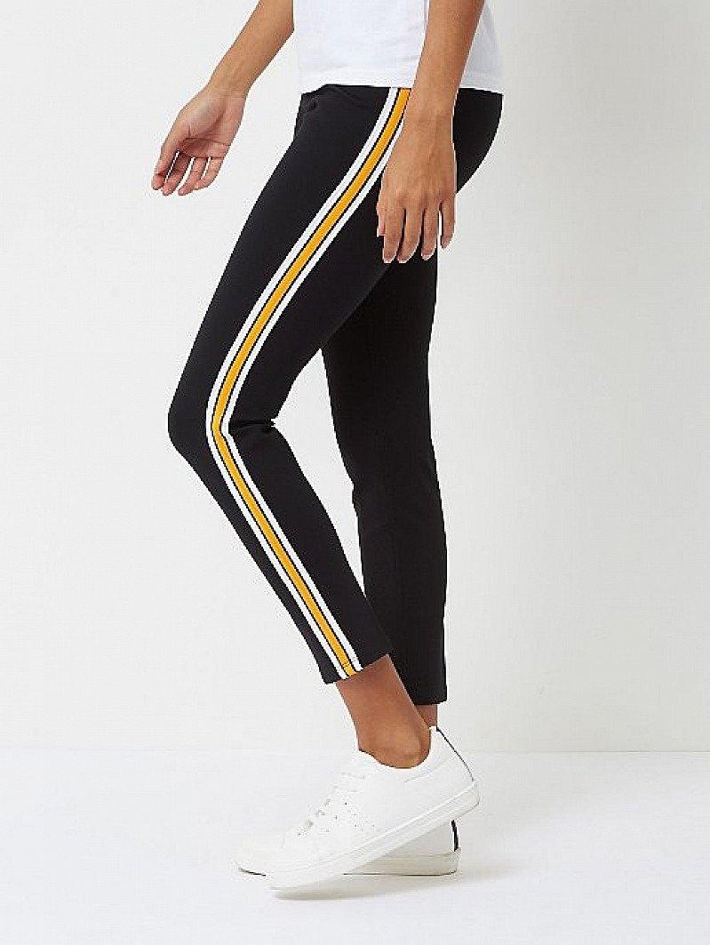 SALE - Black Side Stripe Bodysculpt Shaping Leggings!