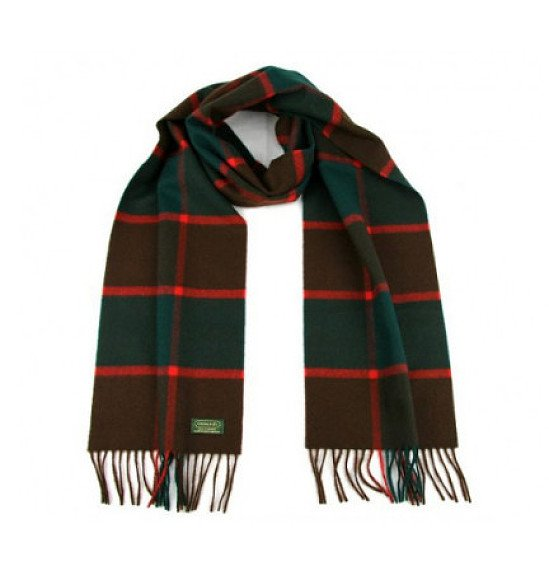 Save- Glencroft 100% Cashmere Premium Plaid Scarf in Green and Red