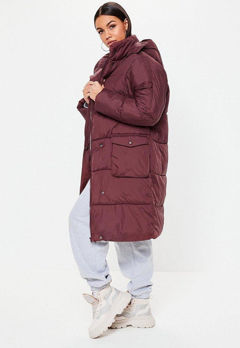 SALE - wine longline puffer jacket!