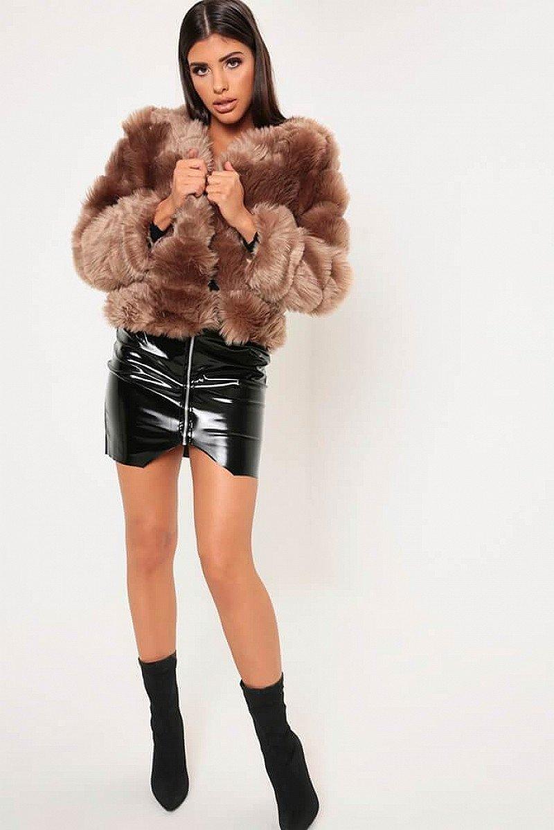 SALE - Camel Faux Fur Long Sleeve Coat!