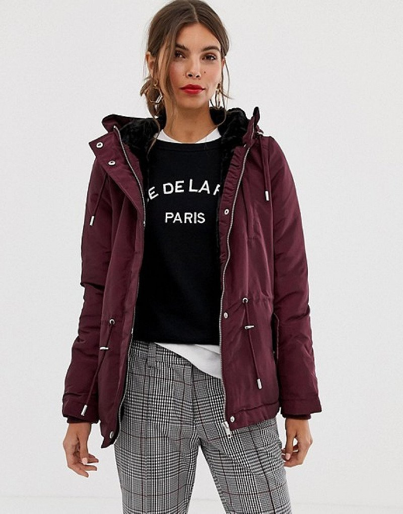 SALE - Y.A.S hooded short parka coat