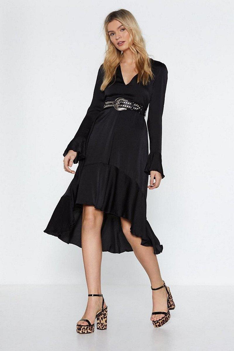 SALE - The Midi Man Satin Dress!