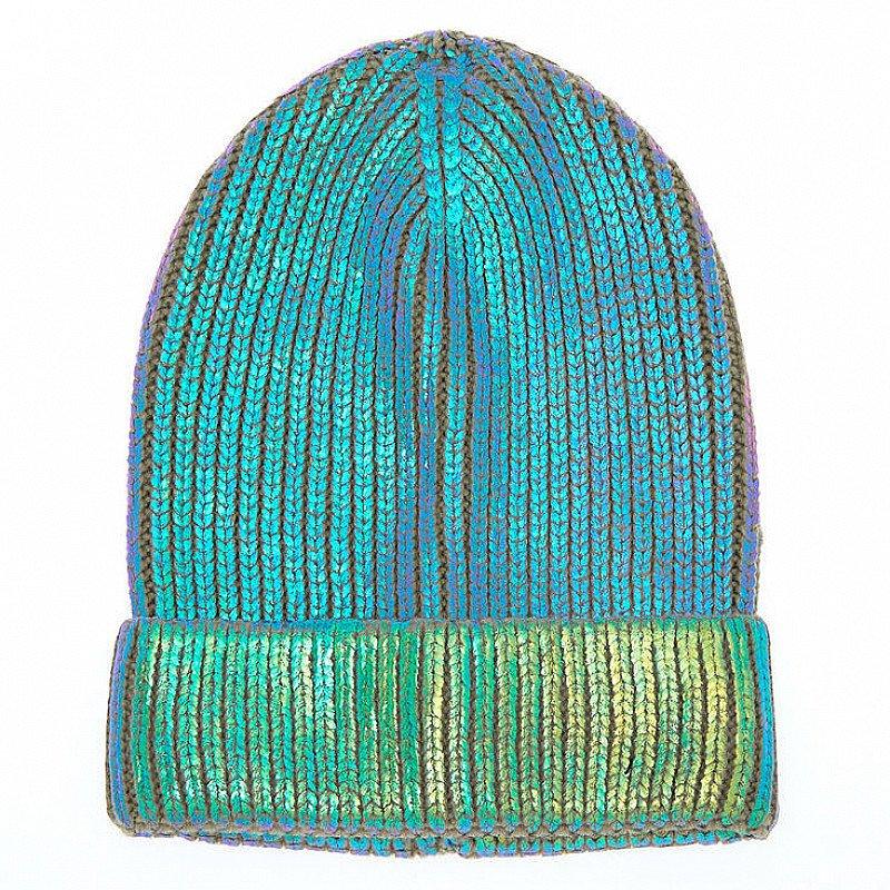 SALE - Foil Knit Beanie - Mint!