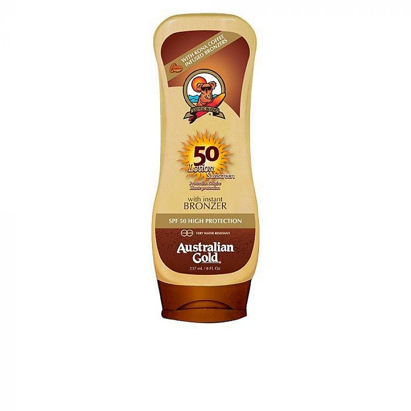 SALE - Australian Gold SPF 50 Lotion Sunscreen With Bronzer 237ml!