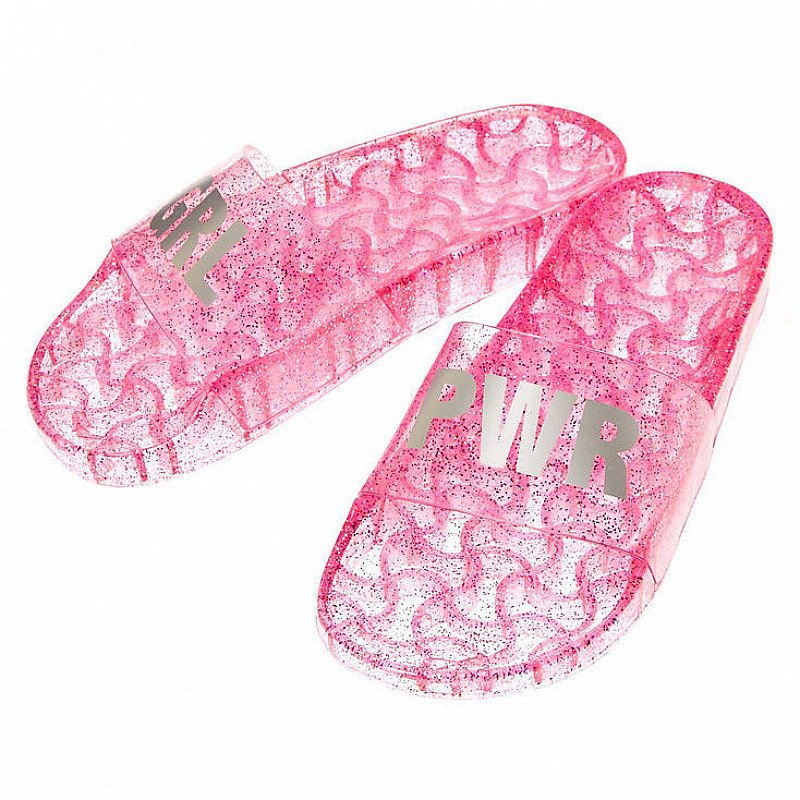 BUY 3 GET 3 FREE - Jelly GRL PWR Pool Slide Sandals, Pink!