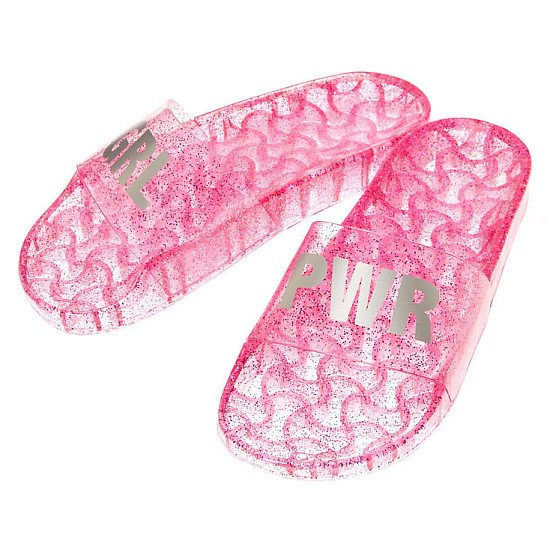 BUY 3 GET 3 FREE - Jelly GRL PWR Pool Slide Sandals, Pink!