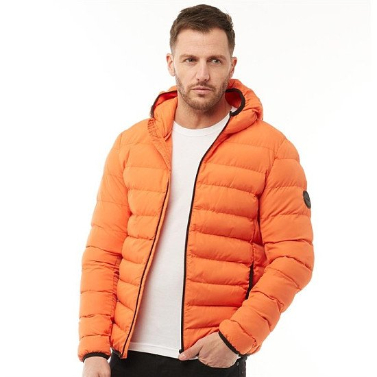 SALE - French Connection Mens Row 2 Hooded Jacket Orange!