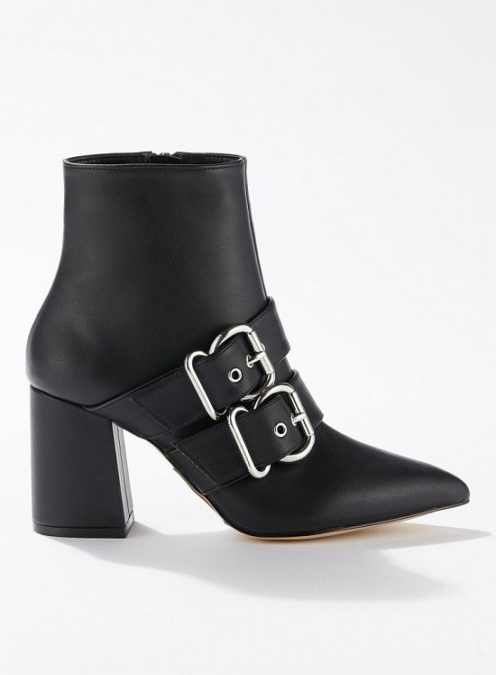 SALE - ANNA Black Buckle Boots