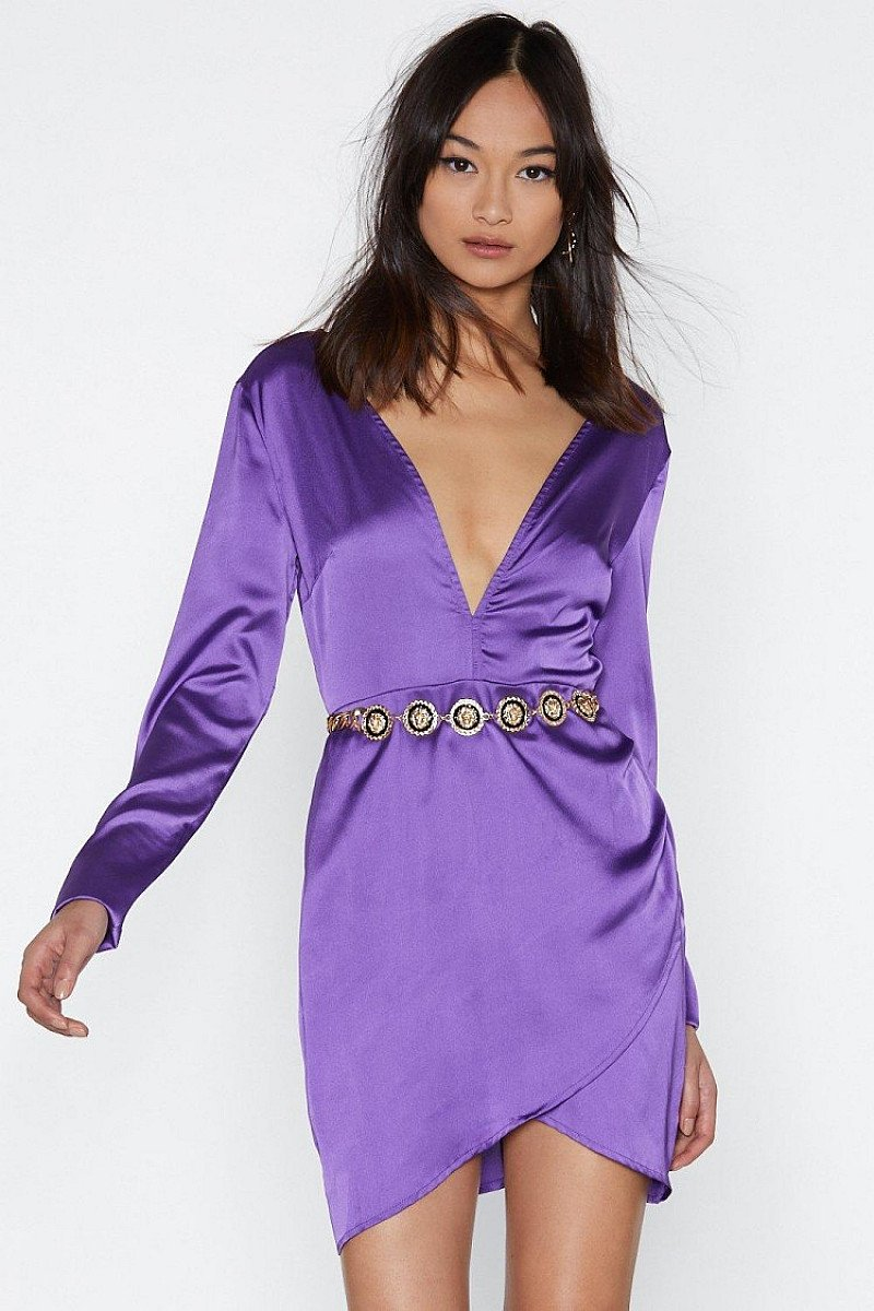 SALE - Slip Away Satin Dress