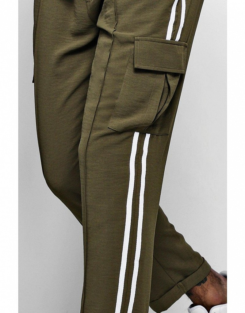 SALE - SMART WOVEN CARGO TROUSER WITH TAPE