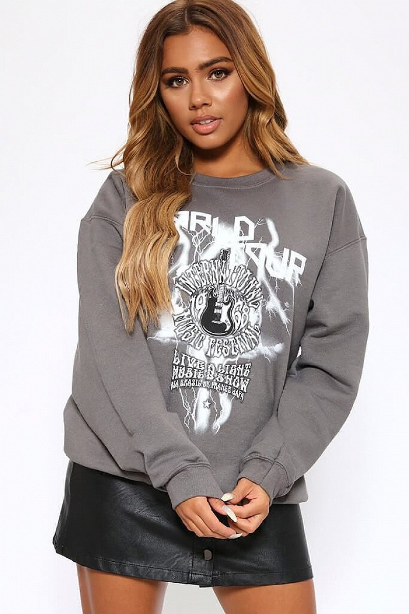 SALE - Charcoal World Tour Sweatshirt