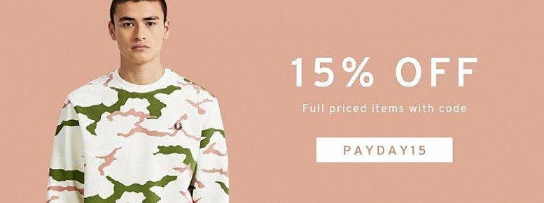 15% OFF Men's Designer Clothing off Full Priced Items with THIS Code!